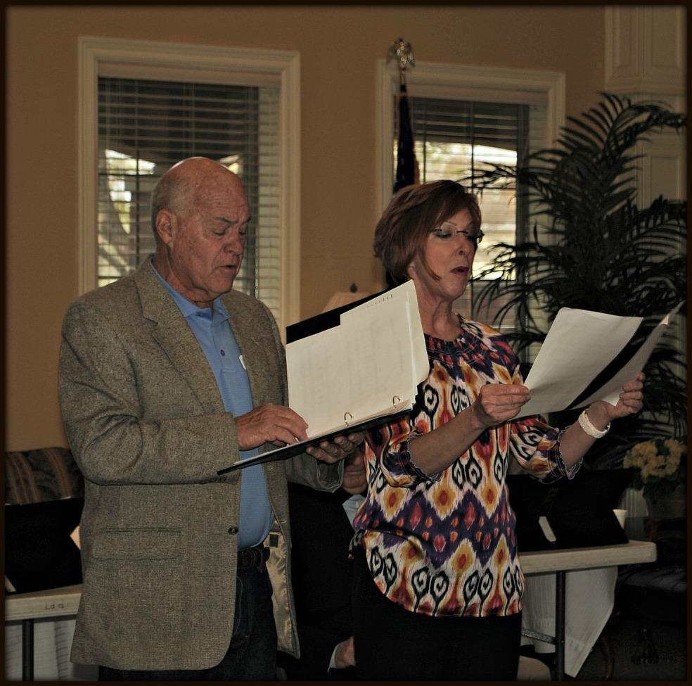 Amarillo Opera's chorus master, George Biffle and chorus member moi, singing Ivory Palaces.